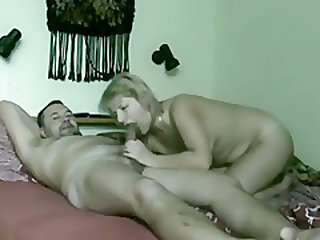 Blonde Slut Filled With A Mature Hunks Rod